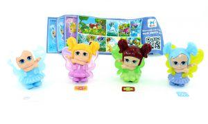 Little Fairies Figuren Satz aus Israel mit allen Beipackzetteln