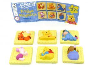 3D Kühlschrankmagneten Set von Winnie the Pooh mit Beipackzettel [Firma TOMY]