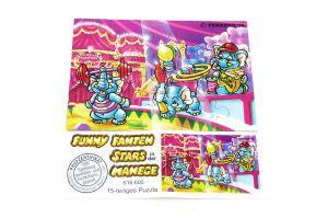 Fanny Fanten in der Manege Puzzlecke oben rechts mit Beipackzettel