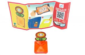 Feuerblume Clip - DV562 mit Beipackzettel (Super Mario - Kinder Joy 2020)