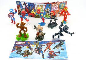 Marvel Heroes Figuren Set. Alle 8 Figuren der Serie mit Zubehör