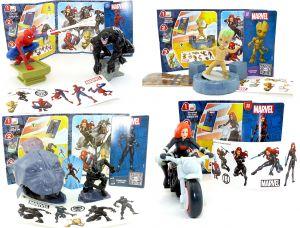 Marvel Heros aus dem Maxi Ei Italien von 2021 mit allen an Zubehör