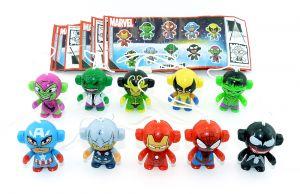 Marvel Twistheads Testware, alle 10 Figuren mit allen Beipackzetteln Komplettsätz