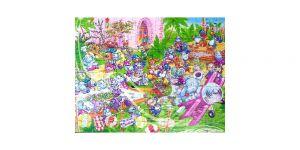 Maxi Ei Puzzle der Happy Hippo Hochzeit mit Beipackzettel (150 Teile)