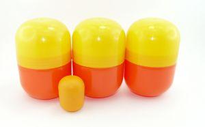 3 leere große gelb - orange Maxi Ei Kapseln von Ferrero