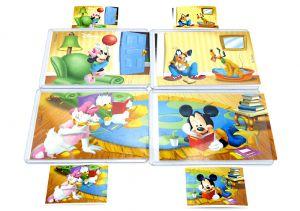 Micky und Friends Puzzle von Rübezahl mit 4 Bauanleitungen (Komplett - Superpuzzle)