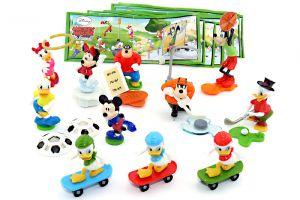 ALLE 11 Figuren von Micky Maus der Serie und alle Beipackzettel