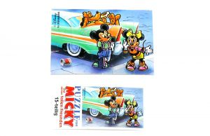 Puzzleecke mit Beipackzettel von Micky Maus 1989 unten links