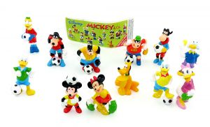 Mickey & Co beim Fußball von Disney + Beipackzettel [Firma Zaini]
