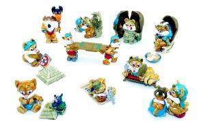 10 Miezi Cats Figurensatz von 1998 (Komplettsatz)