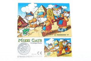 Miezi Cats Puzzle oben rechts mit Beipackzettel
