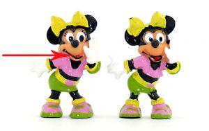 Minnie Maus, wo die schwarze Mundbemalung direkt über dem Mund fehlt  (Ü-Ei Variante - fehlende Bemalung)