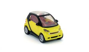Smart Fortwo Coupe in gelb als Automodell Maßstab 1:87