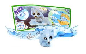 Polarfuchs Baby von den Natoons Polarkinder Figuren (Einzelfigur mit Zettel und Rückwand)