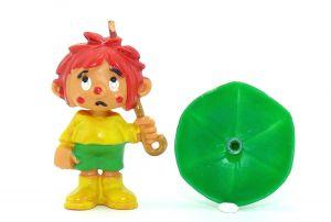 """Original Pumuckl Figur mit Schirm aus der Serie """"Der Kobold Pumuckl"""""""