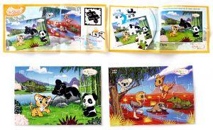 Natoons Puzzle Mixart 2014, zwei Puzzle und die beiden BPZ