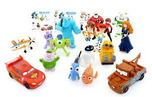 17 schöne Walt Disney Pixar Figuren und ein Beipackzettel