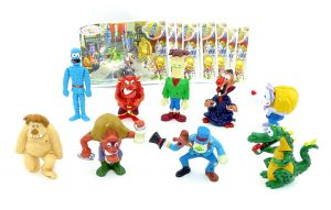 Satz Monster Hotel Figuren mit allen deutschen Beipackzettel
