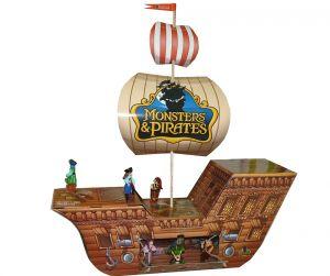 Diorama von Monster & Piraten als schönes Segelschiff