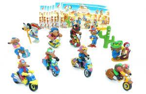 Alle 10 Figuren der Motocoyoten mit 10 Beipackzetteln (Komplettsätze)
