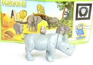"""Nashorn der Serie """"Tiere aus Afrika"""" mit Beipackzettel - DC001 (NATOONS)"""
