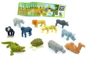 NATOONS 11er Tiere Serie mit allen Beipackzetteln (Sätze Deutschland)