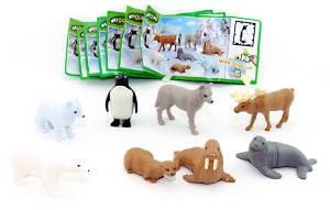Satz Polartiere der Natoons mit Beipackzetteln (Komplettsatz mit 8 Figuren und Zetteln)