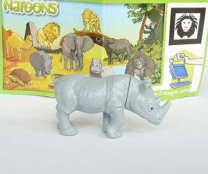"""Nashorn der Serie """"Tiere aus Afrika"""" mit BPZ - DC001 (NATOONS)"""