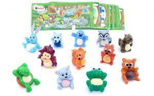 Alle 12 Tierfiguren der Serie mit Beipackzettel. Tierkinder von Nature, Sätze Deutschland