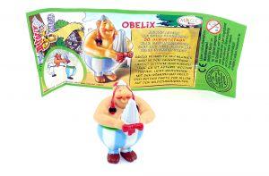 Obelix mit deutschen Beipackzettel (Asterix Geburtstag)