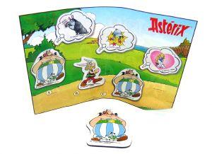 Magnet von Obelix mit Idefix und Beipackzettel [Aus dem Kinder Joy Ei]