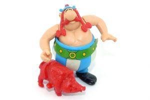 Steckfigur von Obelix mit Wildschwein (Asterix 1991 EU)