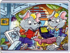 Mega Mäuse Puzzleecke oben rechts (Ü-Ei Puzzle)