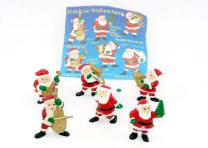 Satz Fröhliche Weihnachten, 6 Figuren mit BPZ (Firma Onken)