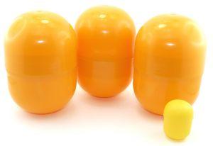 3 Super Maxi Ei Kapseln, die größten die es gibt in orange (14cm hoch und 9cm Durchmesser)