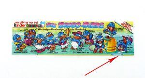 Beipackzettel der Bingo Birds mit Schnittfehler. Unten 1mm bis 2mm verschnitten