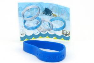 Armband, THE PACK IS BACK in blau mit Beipackzettek (ICE AGE 2)