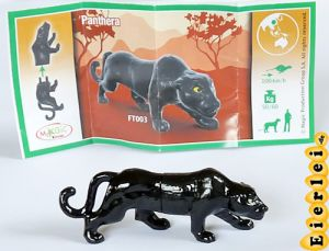 Natoons, schwarzer Panther - Panthera mit Beipackzettel FT003