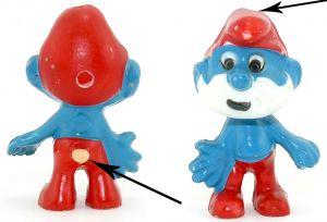 Papa Schlumpf Variante wo der Schwanz nicht blau bemalt wurde (KÜ Bemalungs - Variante)