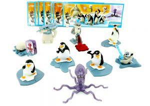 Komplettsatz Pinguine aus Madagascar. 9 Figuren und alle Beipackzettel