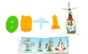 Asterix in Amerika von 1997. Totempfahl mit Beipackzettel und Aufkleber noch auf Folie
