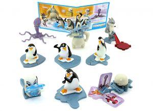 Komplettsatz Pinguine aus Madagascar. 9 Figuren und ein Beipackzettel