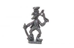 Pirat mit Säbel und Pistole, aus Eisen (Metallfigur)