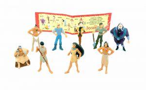 9er Pocahontas Figurensatz von NESTLE. Größe mini mit Beipackzettel