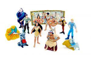 12 Pocahontas Figuren in groß mit Beipackzettel [Firma Nestle]