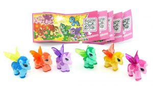 Satz My Little Pony Einhörner mit allen Beipackzettel (Disney Fairies Figuren)