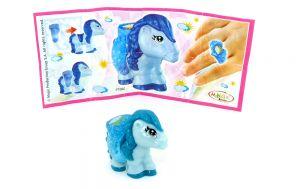 Blaues Pony von Barbie mit Ring und Beipackzettel