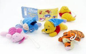 5 Plüschfiguren von Winnie the Pooh - Sleeping Plush mit Beipackzettel