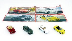 Satz  Porsche Automodelle von 2013. KOLLEKTION 3 mit vier BPZ