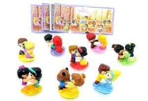 Disney Princess Figuren. Komplettsatz mit allen 8 Beipackzetteln SE243 - SE250 (aus Russland)